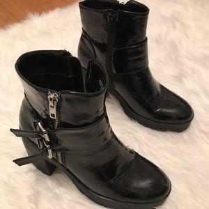 Black booties some heel